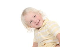 Goofy Happy Smiling Toddler Looking While Leaning Stock Photography