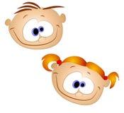 Goofy Looking Kids Smiling Royalty Free Stock Image