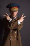 Goofy Militair Royalty-vrije Stock Afbeelding