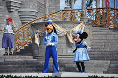 Goofy and Minnie Mouse in Disney World Stock Photography