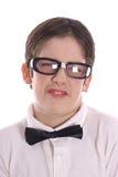 Goofy nerdportret Royalty-vrije Stock Foto's