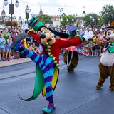 Disney World Orlando Florida Magic Kingdom parade goofy Royalty Free Stock Photography