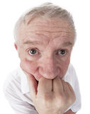 Goofy Senior Thinker Royalty Free Stock Images