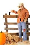 Goofy Teen Scarecrow Stock Image