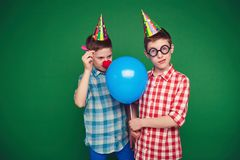 Goofy twins Royalty Free Stock Photos