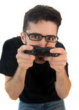 Goofy Video Gamer Stock Photography