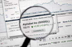 GOOGL - Google stockent Images stock