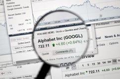 GOOGL - Google-voorraad Stock Afbeeldingen