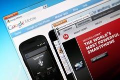 Google移动电话和Motorola流动性 免版税库存图片