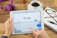 Google är en amerikansk multinationell korporation som specialiserar i internet Royaltyfri Bild