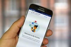 Google η δραστηριότητά μου App Στοκ φωτογραφίες με δικαίωμα ελεύθερης χρήσης