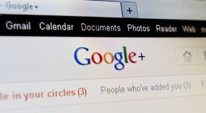 google συν το πρόγραμμα Στοκ εικόνες με δικαίωμα ελεύθερης χρήσης