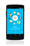 Google συν app στο δεσμό 5 Google Στοκ εικόνες με δικαίωμα ελεύθερης χρήσης