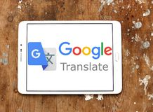 Google переводит логотип Стоковые Фотографии RF