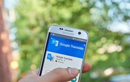 Google переводит app Стоковое Фото