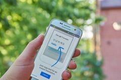 Google переводит app Стоковые Изображения