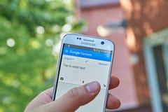 Google переводит app Стоковая Фотография RF