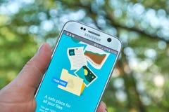 Google-Aandrijving app Stock Foto