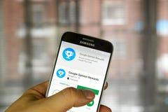 Google-Adviesbeloningen app royalty-vrije stock foto's