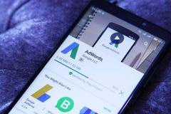 Google AdWords app Στοκ Εικόνα