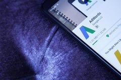 Google AdWords app Fotos de archivo