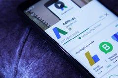 Google AdWords app Στοκ φωτογραφίες με δικαίωμα ελεύθερης χρήσης