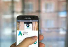 Google AdWords APP Image libre de droits
