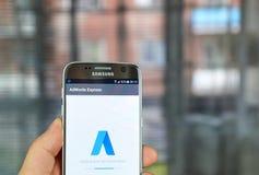Google Adwords ausdrücklich Stockfotografie