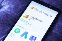 Google-Analytik-APP stockfotografie