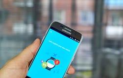 Google Android klädersmartwatch Fotografering för Bildbyråer