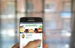 Google Androidify app Στοκ φωτογραφία με δικαίωμα ελεύθερης χρήσης