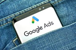 Google-Anzeigen neues Logo und App lizenzfreies stockfoto