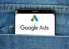 Google-Anzeigen neues Logo und App lizenzfreie stockbilder