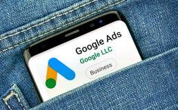 Google-Anzeigen neues Logo und App stockfoto