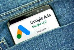 Google-Anzeigen neues Logo und App lizenzfreie stockfotografie