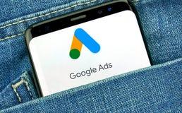 Google-Anzeigen neues Logo und App lizenzfreies stockbild
