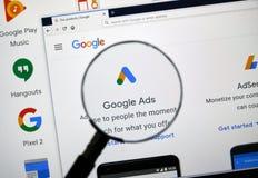 Google-Anzeigenlogo lizenzfreie stockbilder