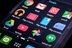 Google applikationsymboler Royaltyfri Foto