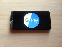 Google betaalt app royalty-vrije stock afbeelding