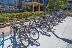 Google bikes l'impiegato Fotografia Stock