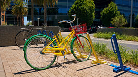 Google Bikes Royalty Free Stock Photo