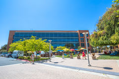 Google Building 1950. Mountain View, CA, United States - August 15, 2016: Google Building 1950 near the main Googleplex, with its relaxing green area and royalty free stock photo