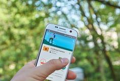Google Cardboard Camera app. MONTREAL, CANADA - MAY 23, 2016 : Google Cardboard Camera application on Samsung S7 screen. The app can take beautiful panoramic Royalty Free Stock Image