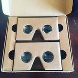 Google Cardboard. A virtual reality headset Stock Photo