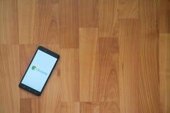 Google chrom na smartphone ekranie obraz royalty free