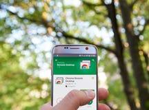 Google Chrome Remote Desktop app Stock Images
