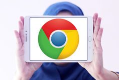 Google chrome web browser logo Stock Photography