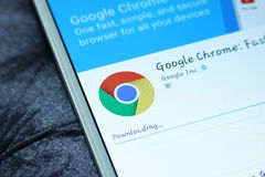 Google Chrome Web Browser Mobile App Stock Image