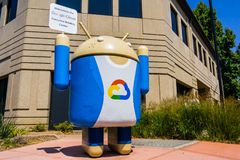 Google Cloud sign. August 9, 2018 Mountain View / CA / USA - Google Cloud sign located at the entrance to one of their campuses located in Silicon Valley, south stock photography
