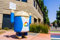 Google Cloud sign. August 9, 2018 Mountain View / CA / USA - Google Cloud sign located at the entrance to one of their campuses located in Silicon Valley, south stock image